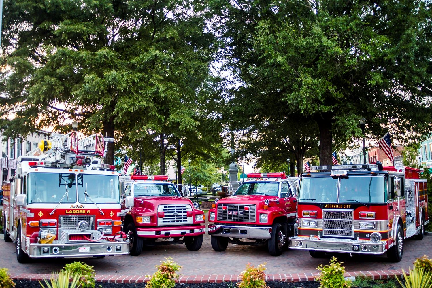 Fire equipment trucks and fire engines